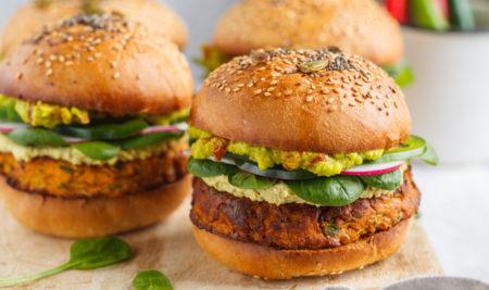 Receta de hamburguesas veganas para toda la familia